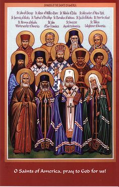 "The Saints known as ""The Enlighteners of North America"" Church Icon, Lives Of The Saints, Religion, Orthodox Christianity, Orthodox Icons, Roman Catholic, Religious Art, Holy Spirit, Images"