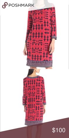 ✨BCBGMax Azria Women's Shift Dress Beautiful red shift dress with round neck. Great pre worn condition! No trades❗️ BCBGMaxAzria Dresses
