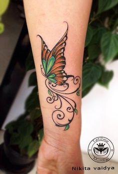 #butterflyattoo #tattoosforgirls #bestfemaletattooartist #beautifultattoo # nikitavaidyattoo #tat2me #mulundtattoostudio #