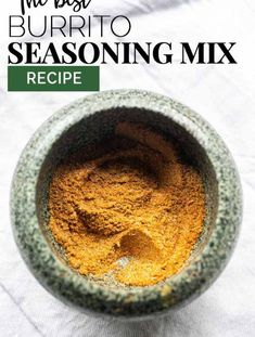 Want to season your burrito meat or vegan recipes try this homemade burrito seasoning. Easy to make, cheap and done in no time. #thetortillachannel #burritoseasoning #burritospicemix #burritomix #easyseasoning #cheapseasoningmix Homemade Spices, Homemade Seasonings, Homemade Burrito Seasoning Recipe, Burrito Meat Recipe, Homemade Burritos, Mexican Dinner Recipes, Mexican Dishes, Mexican Desserts, Raw Food Recipes