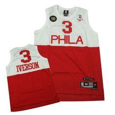 Philadelphia 76'ers Allen Iverson Throwback Swingman Away #3 Jersey