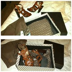 Brand new never worn with box and bag brown Ur gain my loss these shoes are amazing and expensive but don't fit me victors Shoes