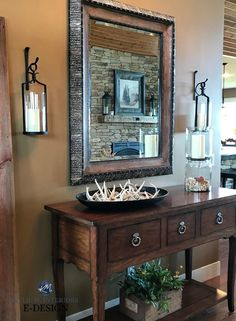 Sherwin Williams Cardboard best brown paint colour in hunting themed home. Kylie M E-design