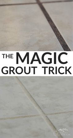 When I discovered this easy, quick, and budget-friendly way to clean grout NATURALLY with vinegar, I had to share it with the world! This grout cleaning tip uses vinegar and two other natural… Diy Home Cleaning, Homemade Cleaning Products, Household Cleaning Tips, Cleaning Recipes, House Cleaning Tips, Cleaning Hacks, Cleaning Routines, Cleaning Quotes, Household Products
