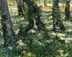 Tree Trunks With Ivy Vincent Van Gogh Reproduction | 1st Art Gallery