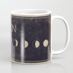 Lunar Phases Moon Cycles Coffee Mug by Mjordanh - 11 oz Lunar Phase, Amai, Unique Coffee Mugs, Tea Mugs, Wraparound, Coffee Cups, Microwave, Dishwasher, Construction