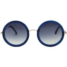 THE ROW Blue Imperial Acetate Sunglasses found on Polyvore