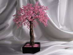 Small Sakura Beaded Bonsai by smallsakura on Etsy, $185.00