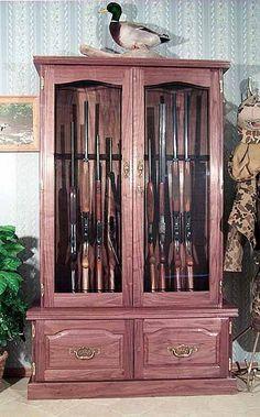 gun cabinet plans free