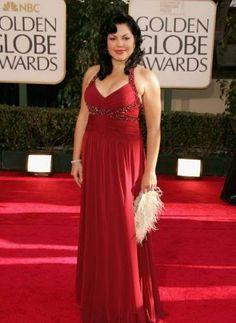Sara Ramirez - Plus size curvy red carpet dress celebrity fashion
