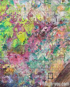 Dieses freakige Gemälde wurde in kleinen Schritten abfotografiert und wurde zum Internetprojekt I LAUGH YOU! Schnapp Dir JETZT eine der einzigartigen Fotografien, die daraus entstanden sind! Ölmalerei trifft auf digitale Kunst und Makrofotografie! Entdecke die einzigartigen Bilder von I LAUGH YOU!, jedes für sich ein Unikat.