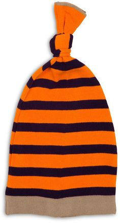 Orange and Navy Stripe Hat by Izzy & Owie - Giggles Gear