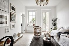 A serene small space apartment in Sweden