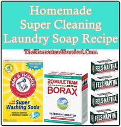 Homemade Super Cleaning Laundry Soap Recipe Homesteading  - The Homestead Survival .Com