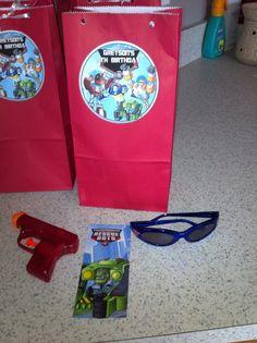 Transformers Rescue Bots Goodie Bag Idea