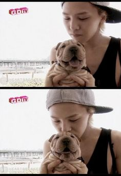 G-Dragon and Gaho! G-Dragon uses fangirl and cuteness attack. It's effective!   Me: *crying on the floor*
