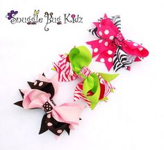 Snuggle+Bug+Kidz++Chunky+hair+clip+bows++Set+of+by+Snugglebugkidz,+$12.99