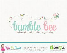 Bumble Bee Photography Premade Logo Design