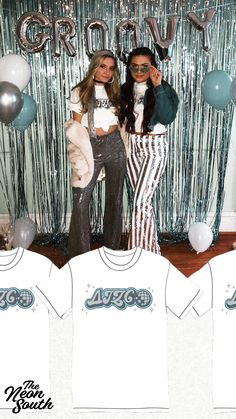 Groovy sorority shirt designs by Neon South. Delta Zeta and more. C - Hoco Shirts - ideas of Hoco Shirts - Disco Inspo! Groovy sorority shirt designs by Neon South. Delta Zeta and more. Hoco Shirts ideas of Hoco Shirts Disco Inspo! Sorority Recruitment Themes, Sorority Bid Day, Sorority Outfits, Sorority Life, Disco Party, Disco Birthday Party, Disco Disco, Disco Theme Parties, 80s Party