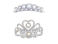 FUMUD 2PCS Wedding Decorative Ivory Color Simulated Pearl Hair Comb Clear Austrian Crystal * Be sure to check out this awesome product.