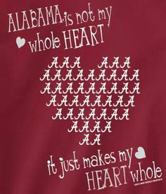 Pretty much!! Roll Tide:)
