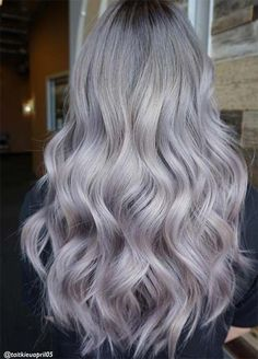 Granny Silver/ Grey Hair Color Ideas: Pearl Lilac & Silver Hair
