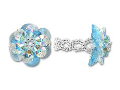 Swarovski Blue Flower Ring Kit