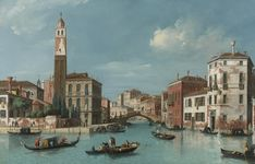 William James VIEW OF THE ENTRANCE TO THE CANNAREGGIO CANAL WITH THE CHURCH OF SAN GEREMIA AND THE PALAZZO LABIA, VENICE