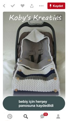 Baby Knitting Patterns Cocoon Deliciously padded sleeping bag for the MaxiCosi from Crocheted in … Knitted Baby Blankets, Baby Blanket Crochet, Crochet Baby, Baby Knitting Patterns, Baby Patterns, Bunting Bag, Baby Bunting, Baby Car Seat Blanket, Baby Cocoon Pattern