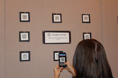 QR Code technology is being utilized in a new art display at the District Office. This unique display encourages interaction from patrons. A QR code reader on a smartphone is how patrons view the art work. Each QR code takes the patron to a different piece of art. All of the art contained within the QR code was created by Peoria Unified high school students.