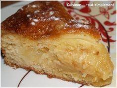 Il existe tellement de recettes de gâteaux aux Pommes mais celle-ci, elle est vraiment EXTRA ... Coulant à souhait ... à la maison, on a adorer. Ingrédients ( pour 6 à 8 personnes ) Première préparation : 10càs de farine 8càs de sucre 8càs de lait 4càs...
