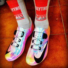 Adam Blythe's custom Nike CYCLING SHOES. i love!!!