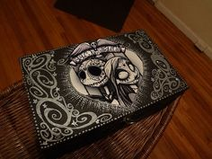 Day of the Dead Nightmare Before Christmas Jack and Sally Lowbrow Outsider Starry Box