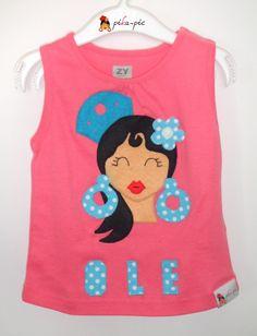 www.pikapic.es Camiseta flamenca para niña.