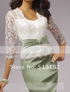 Half Sleeve Outfits Mother OF THE Bride Dress With Free Lace Jacket Custom Made | eBay
