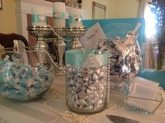 Tiffany Inspired bridal shower for my Goddaughter Stephanie. More to come.