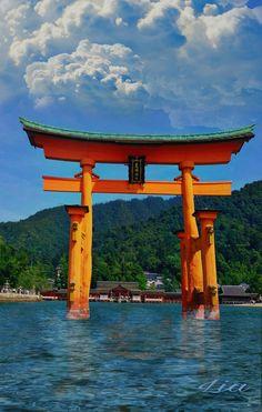 Miyajima patrimonio de la humanidad por la unesco,  Isla de  la bahía de Hiroshima en Japón