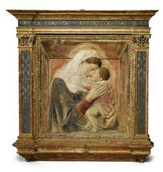 An Italian gilt and painted stucco relief of the Madonna and Child, after Donatello (circa 1386-1466)   lot   Sotheby's