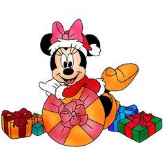 minnie mouse disney xmas christmas clip art images