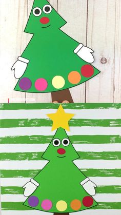 Christmas tree craft for preschool, kindergarten and older kids. Easy paper Christmas tree. #christmastreecraft #christmastreecraftforkids #christmascraftforkids #christmascraftforpreschool #christmascrafts #kindergartencrafts #papercrafts #christmascrafts