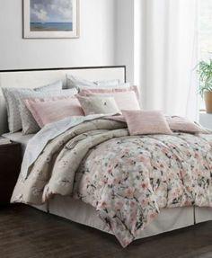 Romantic Garden Reversible 12-Pc. Queen Comforter Set - Bed in a Bag - Bed & Bath - Macy's