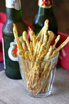 These Crushed Red Pepper Grissini are super spicy, skinny, and crunchy. They are the perfect bar snack, and excellent with a glass of…