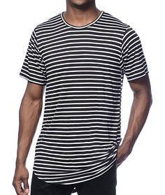 3f6f4cd84cc6 Add some classic style to your wardrobe with the black striped tee from Rustic  Dime.