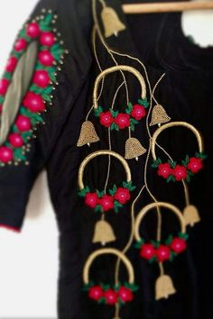 Colors & Crafts Boutique™ offers unique apparel and jewelry to women who value versatility, style and comfort. We specialize in customized attires crafted in h Embroidery On Kurtis, Kurti Embroidery Design, Hand Embroidery Dress, Embroidery Works, Hand Embroidery Designs, Beaded Embroidery, Simple Blouse Designs, Color Crafts, Kurta Designs