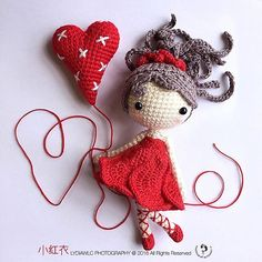 Happy Valentine's Day in advance ❤️❤️ Weibo Group Crochet activity: 小红衣  Pattern by @amiqian