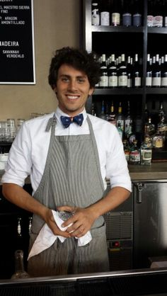 Bartender uniform at The Ordinary in Charleston