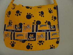 Messenger LSU Laptop Computer Bag by bessiee on Etsy,