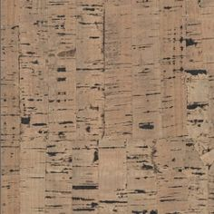 Natural Striped Brown Cork Wall Covering