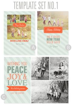 2012 Christmas Card Templates from Simple as That.
