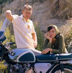 Steve McQueen and Neile Adams